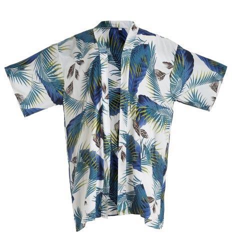 Kimono -Leaves 1 White
