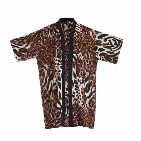 Kimono -Leopard -Brown